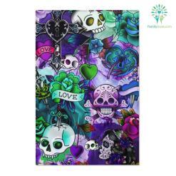 Blue Sugar skull Area Rugs %tag familyloves.com