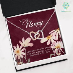 To my nanny a great nanny Necklace with Message Card %tag familyloves.com