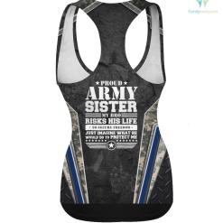 Proud Army Sister T Shirt Military Sister Protects Me hoodie shirt sister %tag familyloves.com
