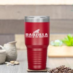 Dadzilla Birthday Gifts For Dad Fathers Day Novelty Tumbler %tag familyloves.com