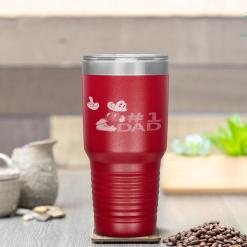 Disney Mickey Mouse Father's Day 1 Dad Tumbler %tag familyloves.com