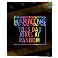 Warning, Tells Dad Jokes At Random T Shirt %tag familyloves.com