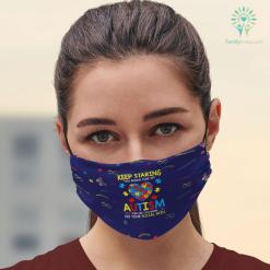 Autism Diagnosis Age Keep Staring You Might Cure My Autism T-Shirt Puzzle Gift Autism Movies Facemask 3D %tag familyloves.com