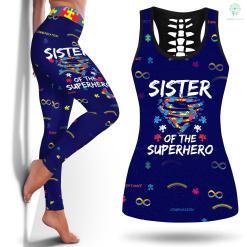 Dsm 5 Autism Super Sister Tshirt Autism Awareness Gift Kids Superhero T-Shirt Autism In Childrenlegging And Tanktop %tag familyloves.com
