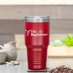 The Dogfather Boston Terrier Dog Dad Father's Day Tumbler %tag familyloves.com