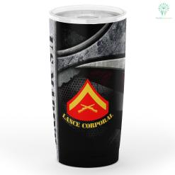 U.s Marine Lance Corporal Tumbler %tag familyloves.com