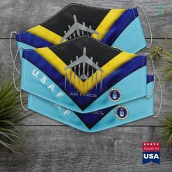 Air Force O Air Force B 52 Bomber American Flag Veteran Men Women Face Mask Gift %tag familyloves.com