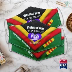 American Veterans Donation Pick Up Vietnam War Purple Heart Recipient Veterans Memorial Face Mask Gift %tag familyloves.com