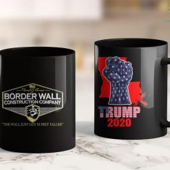 Anti Trump T Shirts Mens Usa Donald Trump Border Wall Construction Co 11oz Coffee Mug %tag familyloves.com