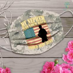Army Acu My Nephew Has Your Back Proud Army Aunt Military Auntie Gift Face Mask Gift %tag familyloves.com