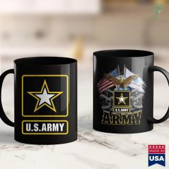 Army Soldier U.S. Army Gift Military White Yellow Star Proud Usa Merch Army Gear 11Oz 15Oz Coffee Mug %tag familyloves.com