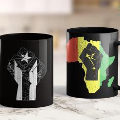 Black Life Puerto Rico Resiste Black Flag Fist 11Oz 15Oz Black Mug %tag familyloves.com