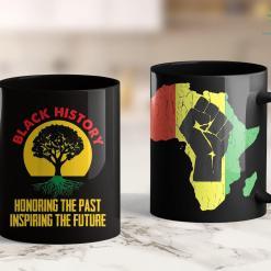 Black Lives Matter Facts Honoring Past Inspiring Future Black History Month 11Oz 15Oz Black Mug %tag familyloves.com