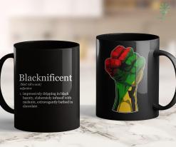 Black Lives Matter Logo Blacknificent Magnificent Black Pride Melanin Gift 2020 11Oz 15Oz Black Mug %tag familyloves.com