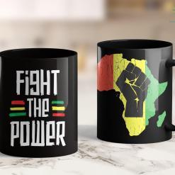 Black Lives Matter Manifesto Fight The Power African Tribal Black History Month 11Oz 15Oz Black Mug %tag familyloves.com