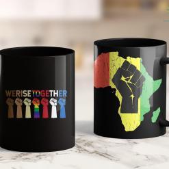 Black Lives Matter Website We Rise Together Equality Awesome Black History Month Gift 11Oz 15Oz Black Mug %tag familyloves.com