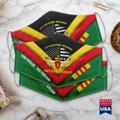 Charities For Veterans 25Th Infantry Division Vietnam Veteran Gift Face Mask Gift %tag familyloves.com