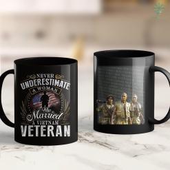 Charter Vietnam Never Underestimate Vietnam Veterans Wife 11Oz 15Oz Black Coffee Mug %tag familyloves.com