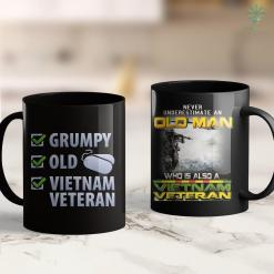 Clothes Furniture Veterans Grumpy Old Vietnam Veteran Tee Men Women Gift 11Oz 15Oz Black Coffee Mug %tag familyloves.com