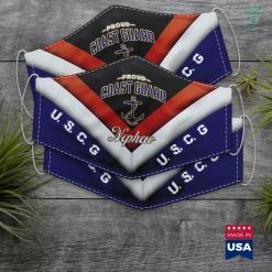 Coast Guard Ships Coast Guard Nephew Face Mask Gift %tag familyloves.com