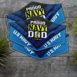 Dad Us Navy Mens Proud Us Navy Dad Army Military Father Tee Face Mask Gift %tag familyloves.com
