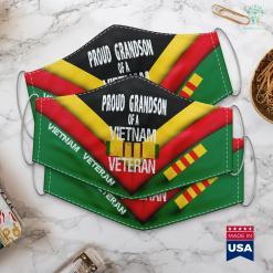 Dav Donation Pick Up Us Military Family Proud Grandson Of A Vietnam Veteran Face Mask Gift %tag familyloves.com