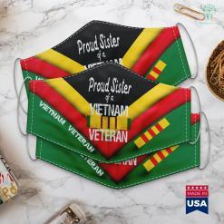 Donate Car Veterans Proud Sister Of A Vietnam Veteran Military Family Face Mask Gift %tag familyloves.com