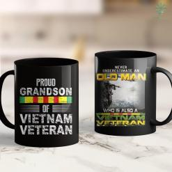 Donate Wheelchair To Veterans Veteran Gifts - Proud Grandson Of Vietnam Veteran 11Oz 15Oz Black Coffee Mug %tag familyloves.com
