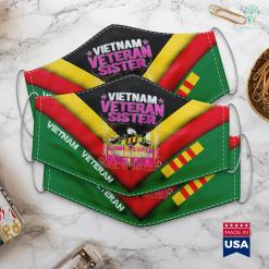 Free Pick Proud Vietnam Veteran Sister Military Veterans Sibling Gift Face Mask Gift %tag familyloves.com