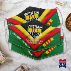 Free Pick Up Vietnam Veteran Wife Gift Face Mask Gift %tag familyloves.com