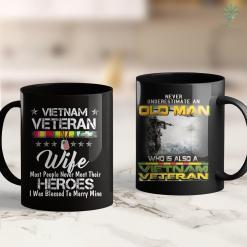 Furniture For Veterans Vietnam Veteran Wife Raised By My Hero Gift 11Oz 15Oz Black Coffee Mug %tag familyloves.com