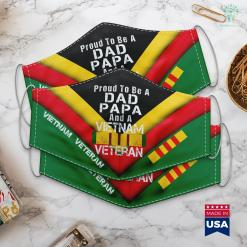 Helpvets Mens Proud Dad Papa Vietnam Veteran Vintage Military Vet Face Mask Gift %tag familyloves.com