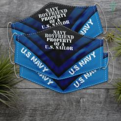 Kids Us Navy Navy Boyfriend Property Of A U.S. Sailor Face Mask Gift %tag familyloves.com
