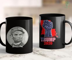 Kids Trump Shirt Lincoln Wearing Trump Hat 11oz Coffee Mug %tag familyloves.com