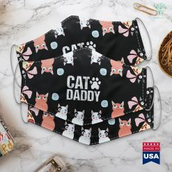 Love My Cat Mens Funny Rad Cat Daddy Dad Gift Fathers Day Face Mask Gift %tag familyloves.com