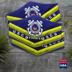 Marine Coast Guard U.S. Coast Guard Proud Veteran Uscg Gift Face Mask Gift %tag familyloves.com