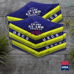 Michigan National Guard Veteran Wife Gift Proud Coast Guard Veteran Wife Face Mask Gift %tag familyloves.com