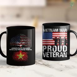 Names On The Vietnam Wall American Raised With Vietnamese Roots Vietnam 11Oz 15Oz Black Coffee Mug %tag familyloves.com