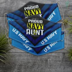 Navy Blue Military Jacket Mens Proud Aunt Navy Us Army Patriotic Gift Face Mask Gift %tag familyloves.com