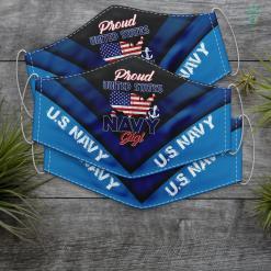 Navy Deck Jacket Womens U.S. Navy Original Proud Navy Mom T Face Mask Gift %tag familyloves.com