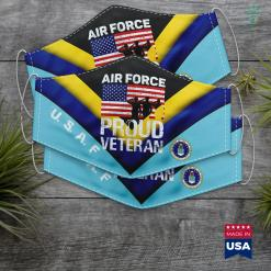 Navy Vs Air Force Football Military Red White Blue Flag Proud Air Force Veteran Face Mask Gift %tag familyloves.com