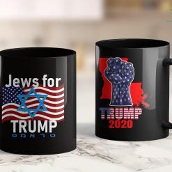 President Trump Shirts Jews For Trump American Flag Star Of David Hebrew Supporter 11oz Coffee Mug %tag familyloves.com