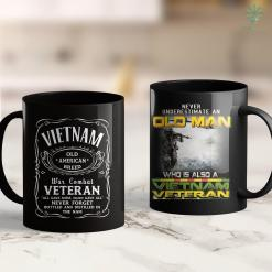 Scheduleapickup Vietnam Veteran Red Text Distressed American Flag Gift 11Oz 15Oz Black Coffee Mug %tag familyloves.com
