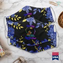 September Birthstone Jewelry Queens Born September Black Girl Virgo Libra Birthday Face Mask Gift %tag familyloves.com