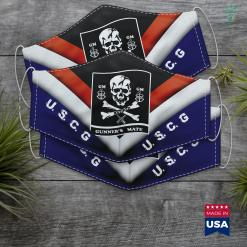 The Gurad Coast Guard Gunners Mate Gm Retired Skull Flag Face Mask Gift %tag familyloves.com