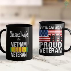 The Wall Vietnam Blessed Wife Of A Vietnam Veteran Military Family 11Oz 15Oz Black Coffee Mug %tag familyloves.com