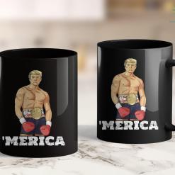 Trump 2020 Ads Youtube Donald Trump 2020 American Boxing Champion Boxer Merica Gif 11oz Coffee Mug %tag familyloves.com