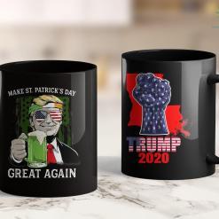 Trump 2020 Banner Make St Patricks Day Great Again Trump Men Women Tee 11oz Coffee Mug %tag familyloves.com