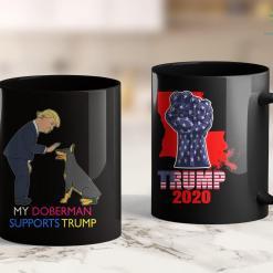 Trump 2020 Election Polls My Doberman Supports Trump Gift Doberman Pinscher 11oz Coffee Mug %tag familyloves.com