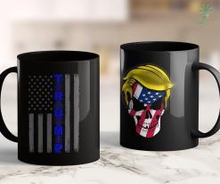 Trump 2020 Official Store Thin Blue Line Trump Usa American Flag Gift Vintage 11oz Coffee Mug %tag familyloves.com